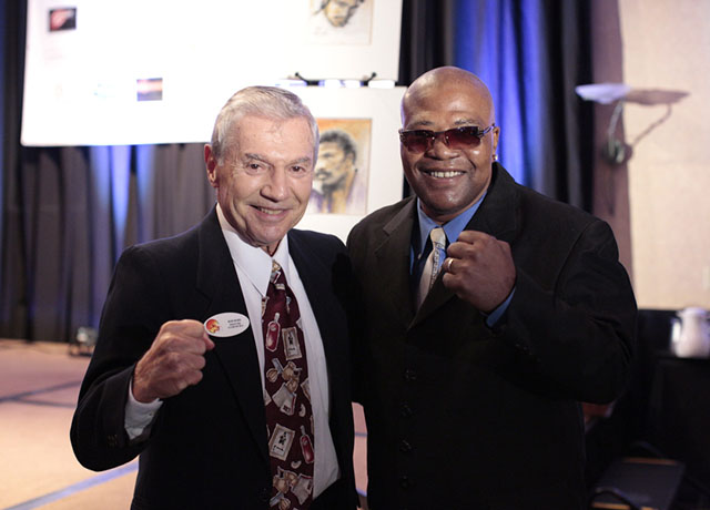 Ron Ross and Aaron (The Hawk) Pryor, former Jr. Welterweight Champion