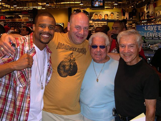 Andre Dirrell, Lou DiBella, Sam Cohen, with Ron Ross, April 10, 2010