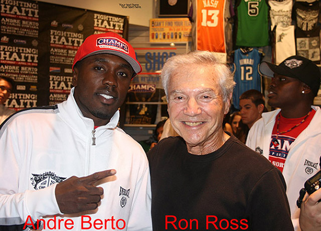 Andre Berto and Ron Ross at Quintana Weigh-in, 2010