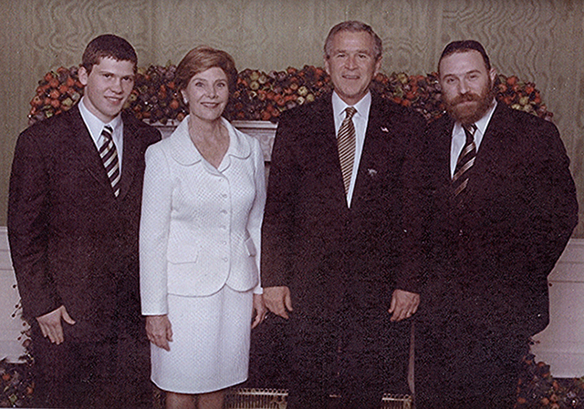 Dmitriy Salita with President Bush