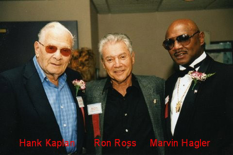 Hank Kaplan, Ron Ross, and Marvin Hagler