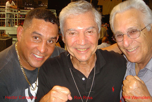 Hector Camacho, Ron Ross, and Phil Weinstein