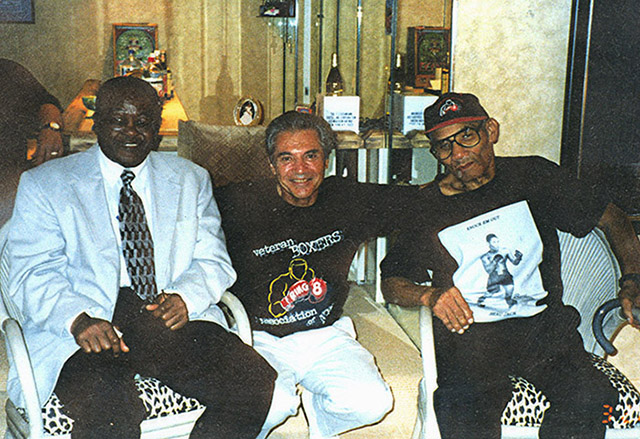 Kid Gavilan with Beau Jack visiting Ron in Florida, 1999