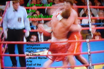 Klitschko-Ibragimov, Fight or love-in, February 23, 2008