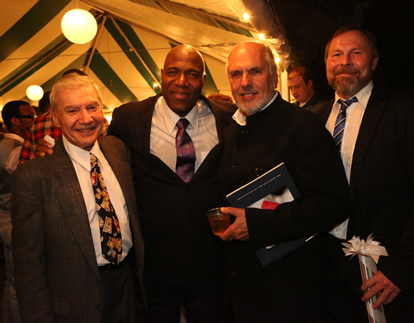 Ron Ross with Arthur Woodley, Michael Cristofer and life partner
