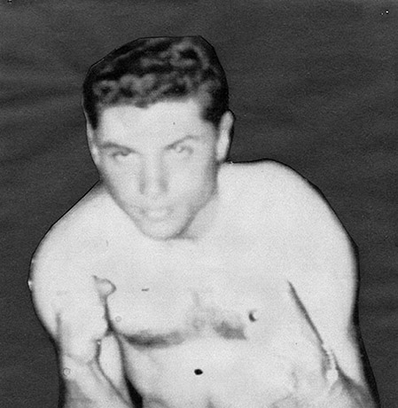 Ron Ross boxing photo, 1955