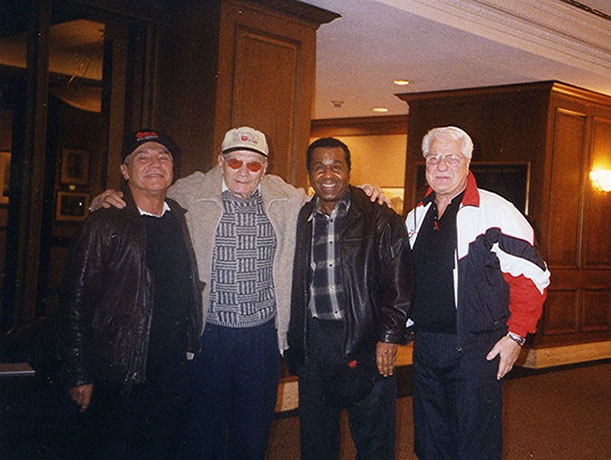 Ron Ross, Hank Kaplan, Emmanuel Steward, and Hoomanian