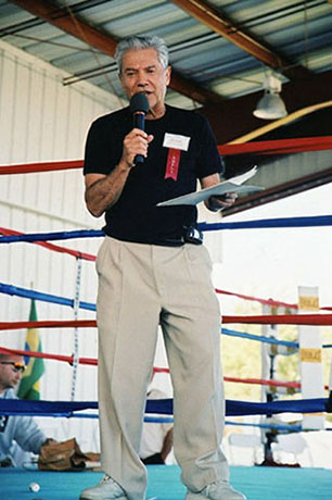 Ron Ross at the International Boxing Hall of Fame, Canastota, New York