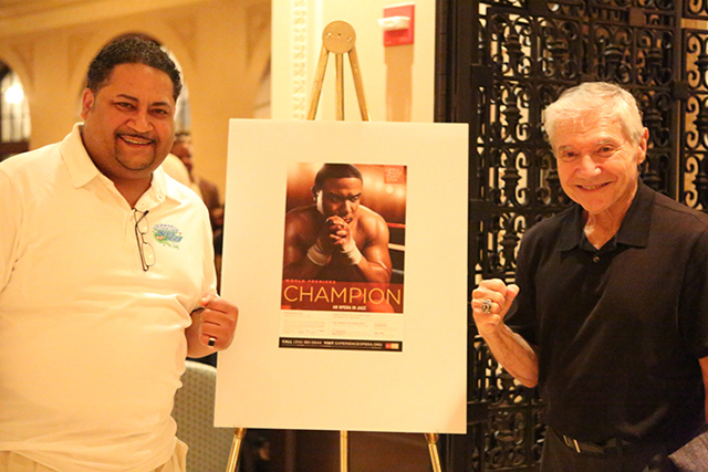 Ron Ross with Louis Rodrigo at Premiere of CHAMPION