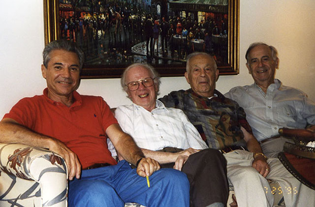 Ron Ross, Irving Rudd ( Hall-of-Fame publicist for Madison Square Garden,  Brooklyn Dodgers, Yonkers Raceway, Nathan's Famous and others), Bernie Friedkin, and Vic Zimet